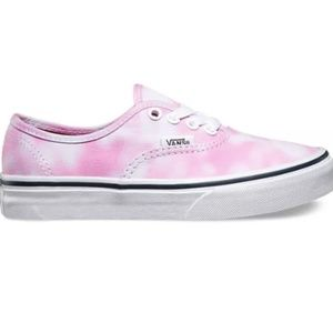 White pink tie dye Vans shoes size 9 women